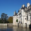 Chenonceau castle , Loire valley , France - Stock Photo