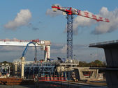 Coulombiers, november 2013, precast concrete segment plant — Stock Photo