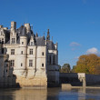 Chenonceau castle in fall , Loire valley , France - Stock Photo