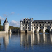 Chenonceau castle , Loire valley , France — Stock Photo