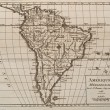 Old original map of south America — Stock Photo #14680509
