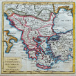 Stock Photo: Original antique Turkey and Greece map