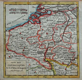 Original antique Netherlands map — Stock Photo