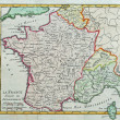 Stock Photo: Original antique France map