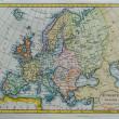 originální starožitný mapa Evropy — Stock fotografie #16169107