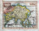 Original antique map of Asia — Stock Photo