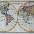 Stock Photo: Original antique world map