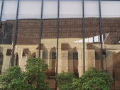 Reflection of Toussaint abbey , Angers, France — Stock Photo