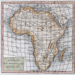 Stock Photo: Original antique map of Africa