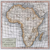 Original antique map of Africa — Stock Photo