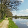 Nantes to Brest canal in spring, France - Stock Photo