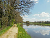 Nantes to Brest canal in spring, France — Stock Photo