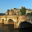 Stock Photo: Pont neuf at sunset, Paris, France june 2013