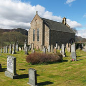 Laggan churchyard, Scotland in spring — Stock Photo