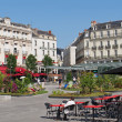 Stock Photo: Angers, town center, summer decoration, july 2013