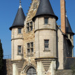 Angers castle, entrance to the stately courtyard, april 2013 — Foto de Stock