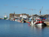 Saint Nazaire, France - august 2013, harbor with fishing boats — Stock Photo
