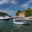 Cavtat, Croatia, august 2013, harbor and monastery of Our Lady o — Stock Photo