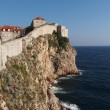 Dubrovnik fortified old town seen from the west, Croatia — Stock Photo