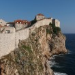 Stock Photo: Dubrovnik fortified old town seen from the west, Croatia