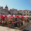 Dubrovnik, Croatia, august 2013, historic town marketplace — Stock Photo