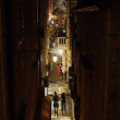 Stock Photo: Dubrovnik, august 2013, Croatia, Uz Jesuite stret at night