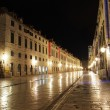Stock Photo: Dubrovnik, august 2013, Croatia, Stradun street at night