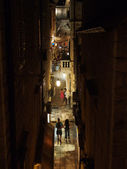 Dubrovnik, august 2013, Croatia, Uz Jesuite stret at night — Stock Photo