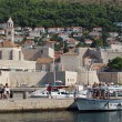 Dubrovnik, august 2013, old town and franciscan church — Stock Photo
