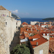 Stock Photo: Dubrovnik, august 2013, fortified old town seen from fortifi