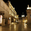 Stock Photo: Dubrovnik, august 2013, Pred Dvorom at night