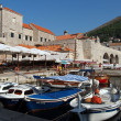 Stock Photo: Dubrovnik, august 2013, fortified old town harbor