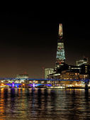 The Shard seen from the river Thames, London, december 2013 — Stock Photo