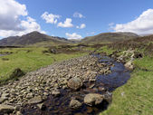 River Calder, Glen Banchor, Scotland west highlands in spring — Stock Photo