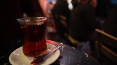 Cup of Turkish Tea — Stock Video