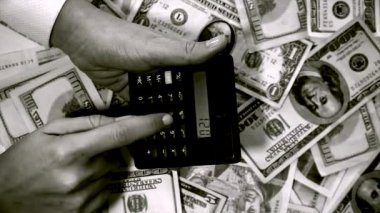 Calculating Profits — Stock Video