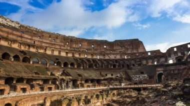 Colosseum Rome Time Lapse — Stock Video