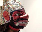 Javanese wayang puppet head — Stock Photo