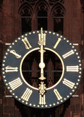 Antique church tower clock — Stock Photo