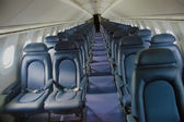Inside the Main Cabin of Air France Concorde Faster Than Sound P — 图库照片