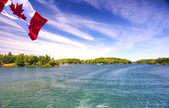 Lago ontário rio saint lawrence e mil ilhas nacionais — Foto Stock