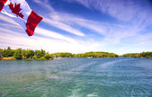 Lake Ontario Saint Lawrence river and Thousand Islands National — Stock Photo