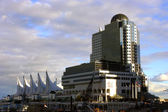 Canada Place Public Pier downtown Vancouver British Columbia Can — Stock Photo