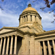 Stock Photo: Neo classical style Legislative Building on late afternoon in early spring