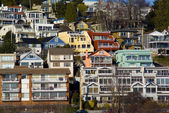 View of White Rock Residential neighborhood near the beach Large — Stock Photo