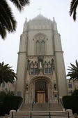San Francisco University Chapel with fog — Stock Photo