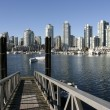 Vancouver skyline from Granville Island — Stock Photo