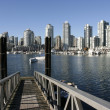 Stock Photo: Vancouver skyline from Granville Island