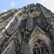 Frog eye view of the Cologne Dom — Stock Photo