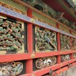Wall of Japanese Shinto Buddhist Temple — Foto Stock #39984773